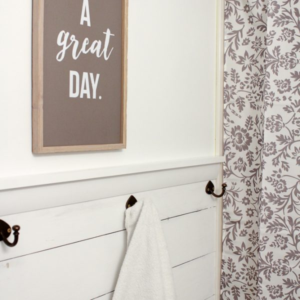 How to Get the Look of Shiplap Using Plywood {Video Tutorial}