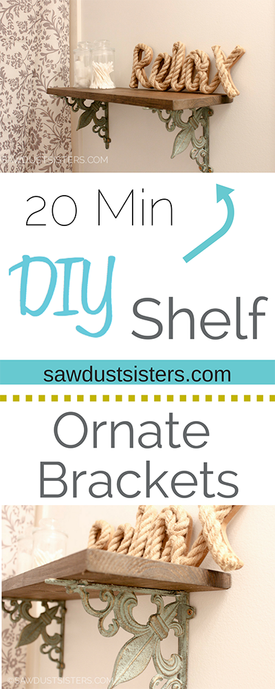 DIY Shelf Ornate Brackets