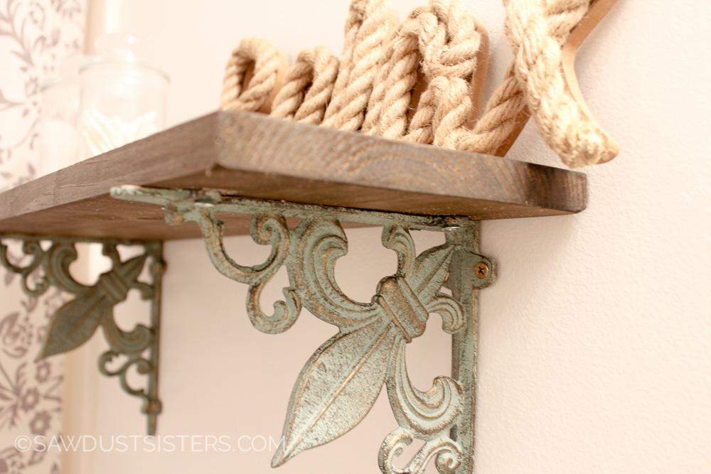 Easy Wall Shelf with Ornate Brackets