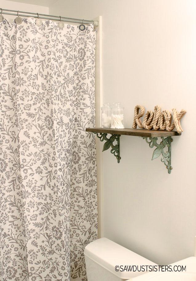 DIY Shelf with Ornate Brackets