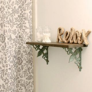 DIY Shelf with Ornate Brackets