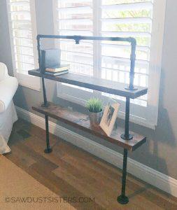 DIY Industrial Pipe Book Shelves