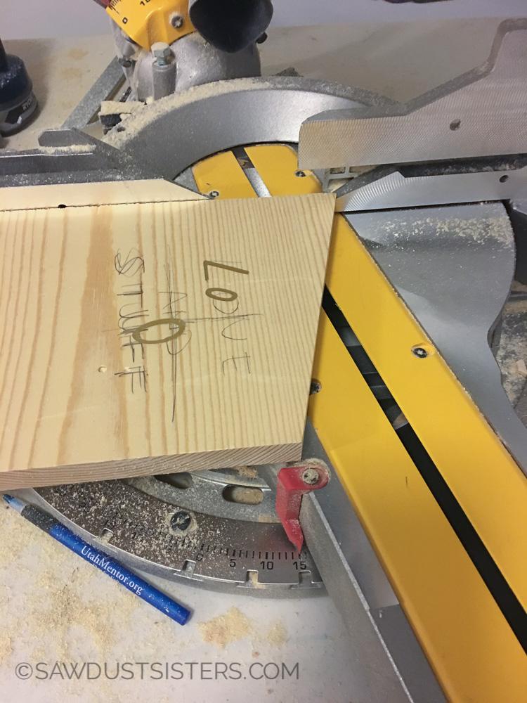 Miter Cut on Wall Key Holder