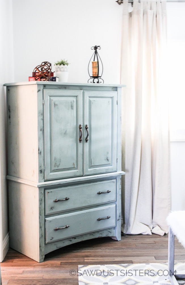 Budget Friendly Ideas for the Master Bedroom: TV Armoire Renovation