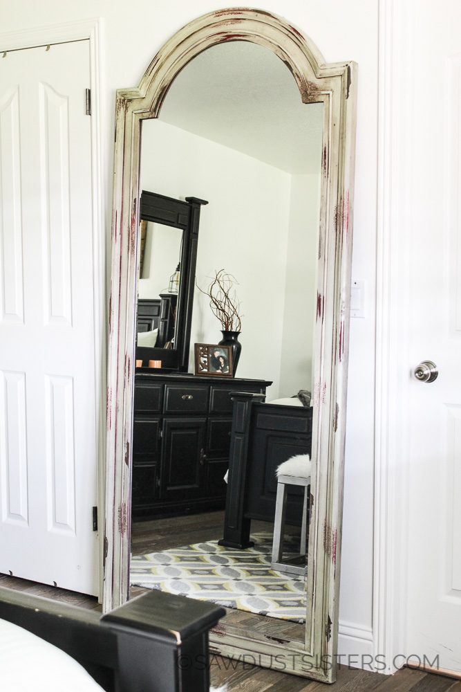 Decorating your master bedroom on the cheap. Floor mirror.