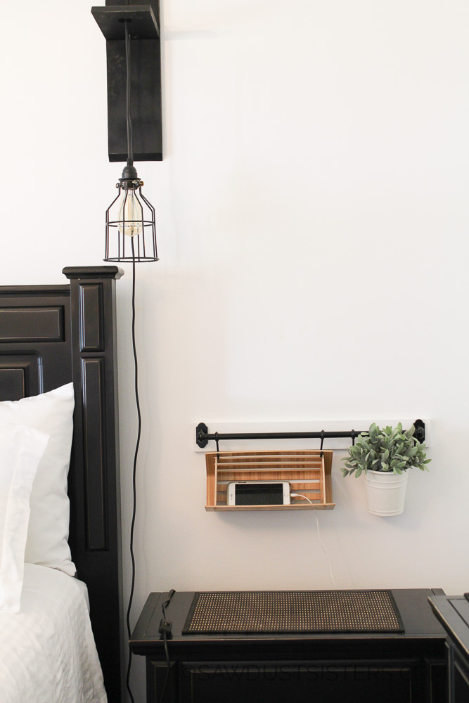 Cheap Bedroom Decor. IKEA Phone Charging Station.