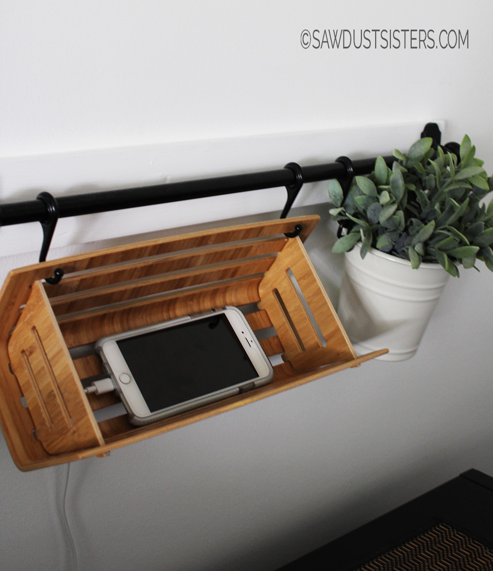 Keep your night stand free of clutter with this phone charging station IKEA Hack!