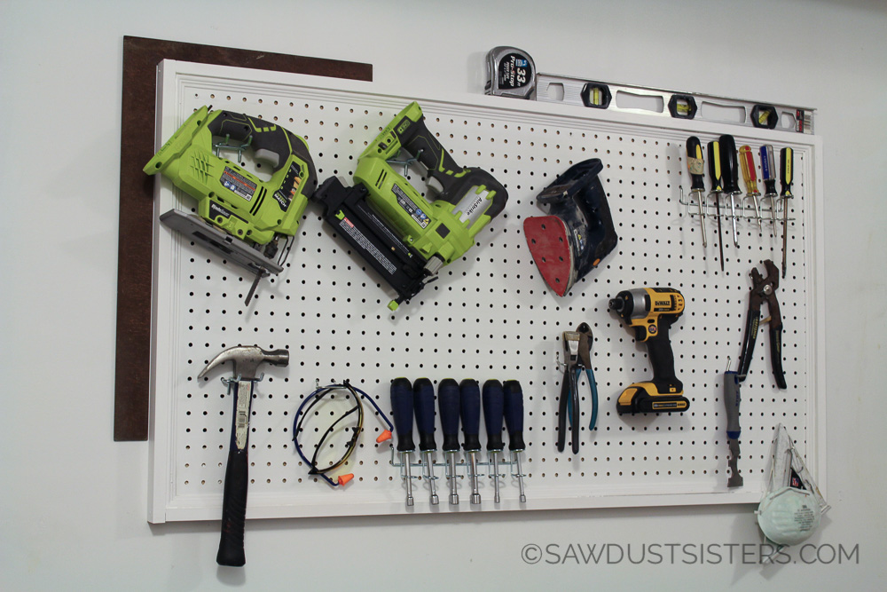 How to Hang and Frame Pegboard!