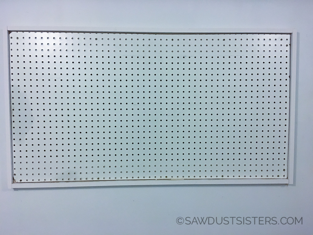 How to Hang and Frame a Pegboard! It's not hard. I think I can do this without my husband's help.