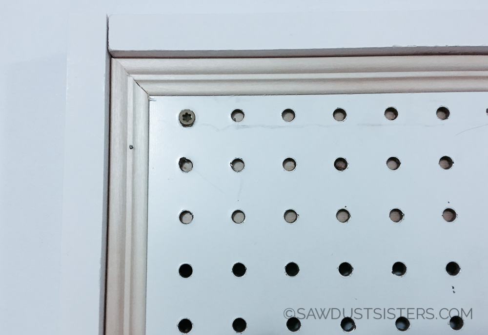 How to Hang and Frame Pegboard