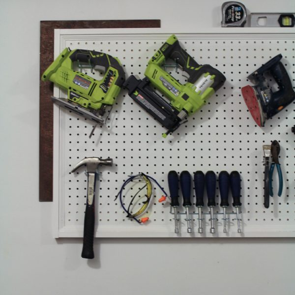 Hang Pegboard the Easy Way (and frame it, too!)