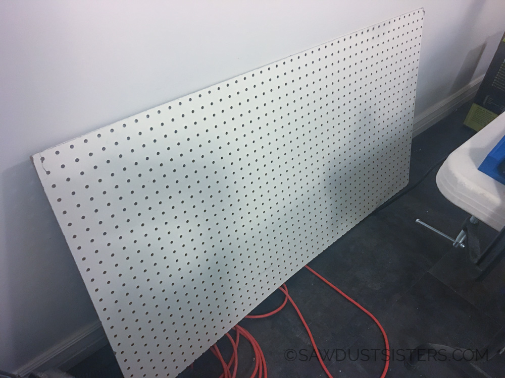 How to hang pegboard on the wall without your husband's help :)