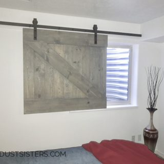 Build a barn door window slider. This is so cool and it is NOT very hard!
