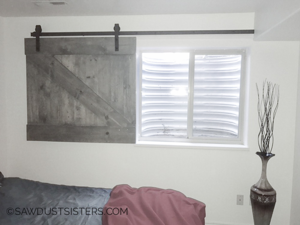 Stable Door Window : Diy barn door style window covering sawdust sisters