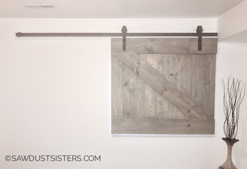 DIY Barndoor Style Window Covering. I want to make one of these!!