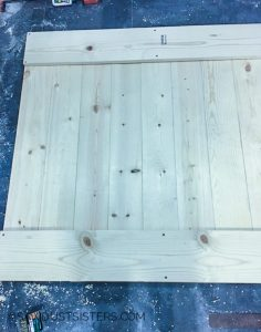DIY Barn Door Style Window Covering