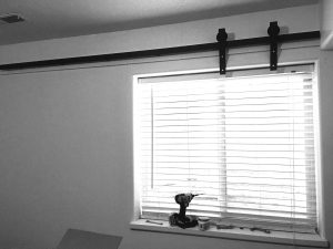 Easy DIY Barn Door Window Covering