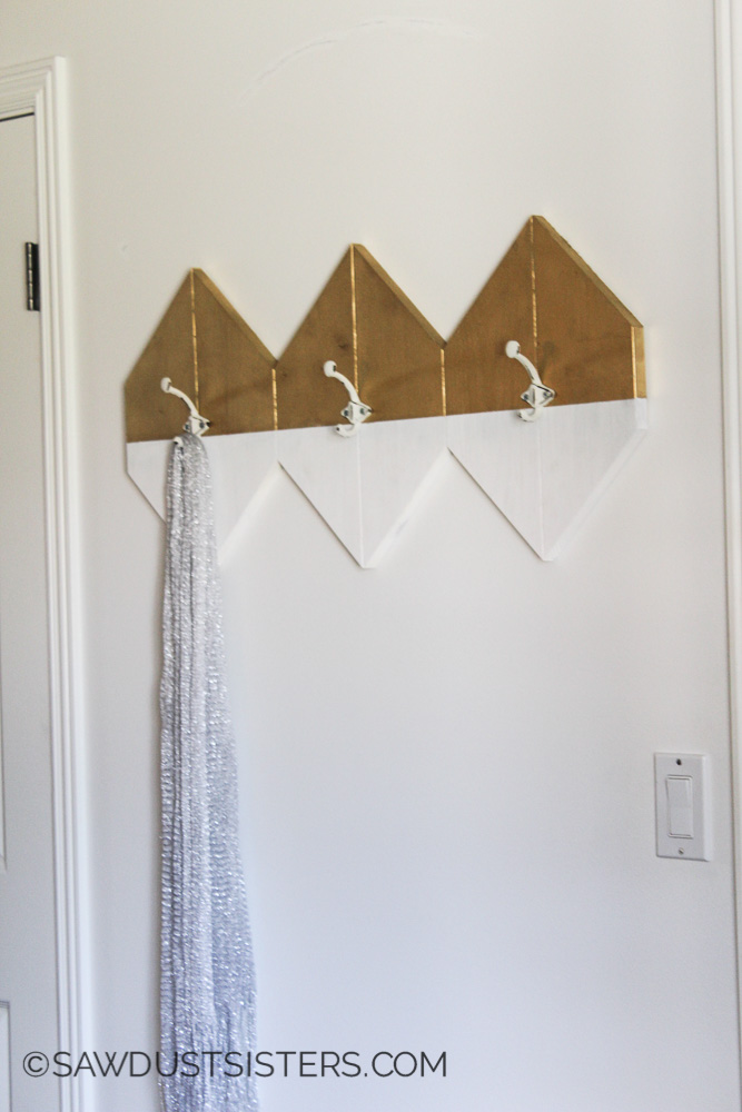 Modern Wall Hooks. Build your own for $8!