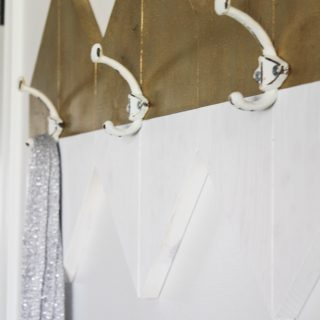 DIY Sparkly Modern Wall Hooks
