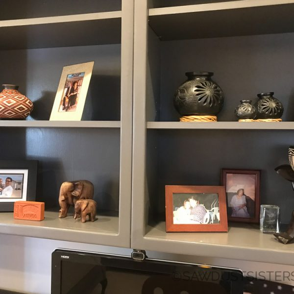 Built in Bookcase Makeover: Don't be Afraid to Paint