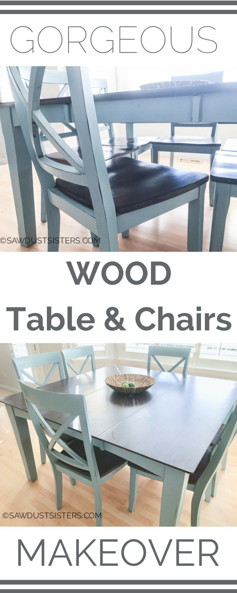 Watch the transformation of an old wood dining table. This dining table makeover will make you see that your old table still has some life left in it. Step by Step tutorial!