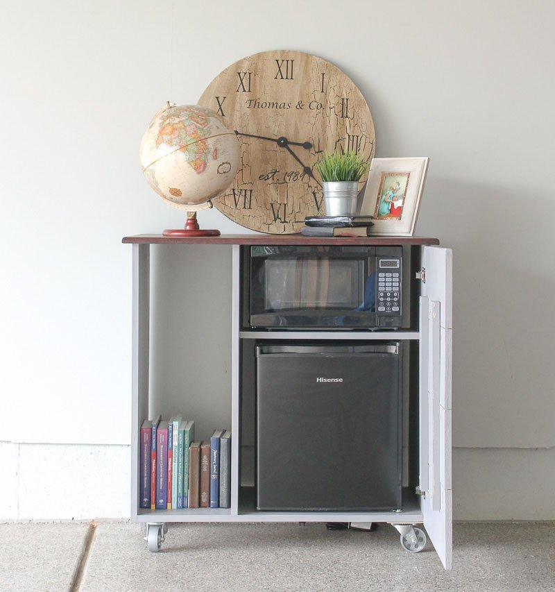 Easy Kreg Projects. I need to build this mini fridge cabinet for my basement!
