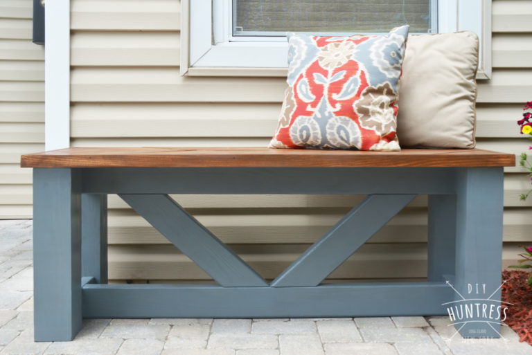 Easy Kreg Jig Projects! I am IN LOVE with this blue bench!