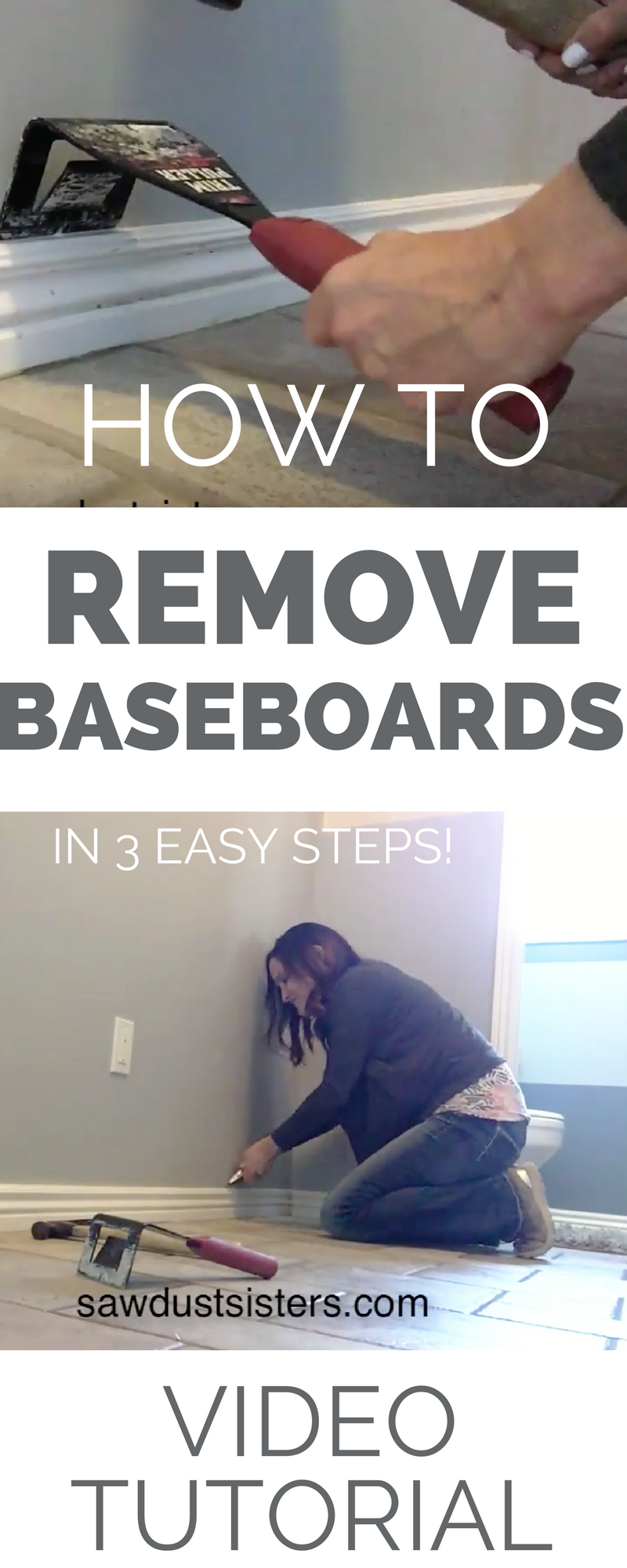 GREAT TUTORIAL for someone who has never tried to remove trim. Learning how to remove baseboards opens up all of sorts DIY possibilities!