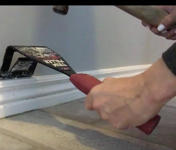Removing baseboards with this tool is SO much easier!