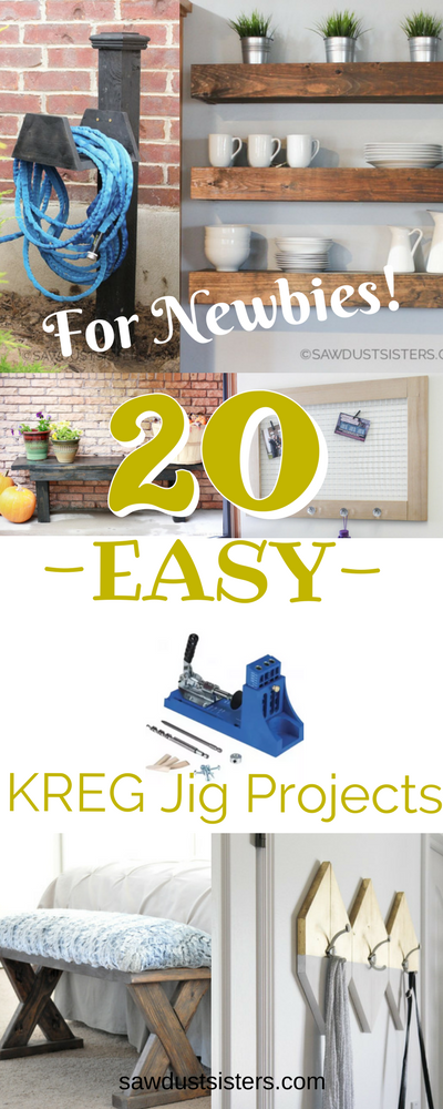 If you just bought your first Kreg Jig, START HERE! You will find beginner friendly DIY projects to give your home a custom look on a budget!