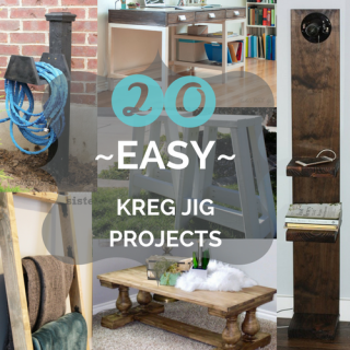 20 Easy Kreg Jig Projects you can build if you're just starting out!