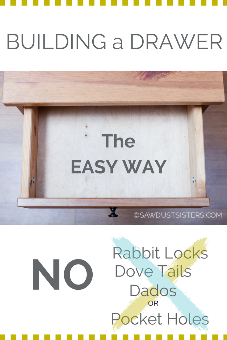 The simplest way of building a drawer with only wood glue and screws!
