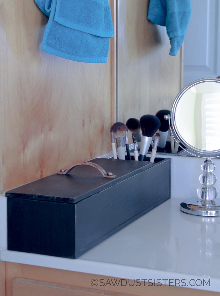 DIY Makeup Organizer! No power tools needed! LOVE THIS!