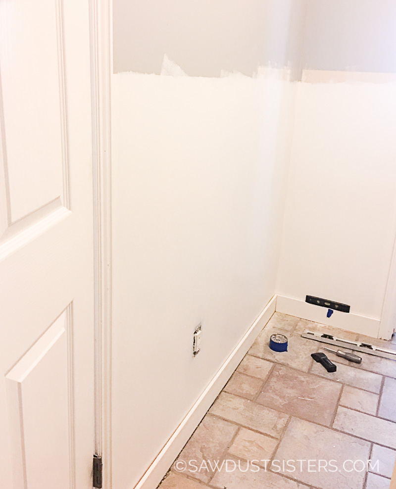 Faux Wainscoting Panels on a Budget!