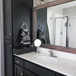 Master Bath Update: Sleek Black Vanity Makeover