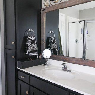 Master Bath Update: Sleek Black Vanity Makeover