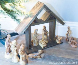 If a Christmas nativity scene is part of you holiday decor, this DIY wooden manger is a project that is easy, quick, and will add a rustic touch to your existing nativity. Grab your scrap wood and click for a free step by step tutorial.