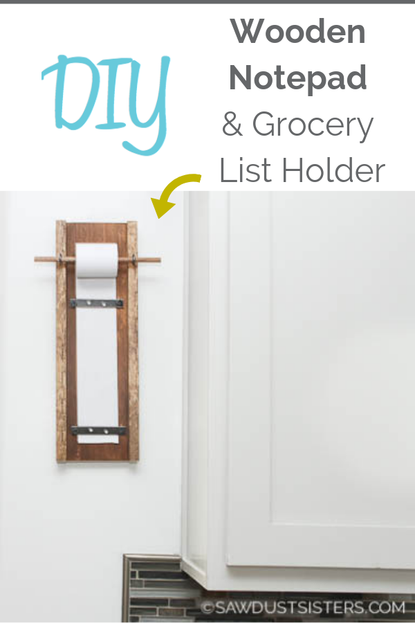 Whether you're making your weekly grocery list or leaving a quick note as you rush out the door, this DIY  memo notepad is a stylish piece that will make a statement in any room. It's easy, inexpensive  and makes a great gift. So, grab some wood scraps and a few cheap supplies, and get building. Full tutorial and supply list.
