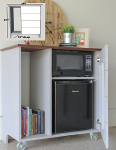 Mini Fridge storage cabinet free plans