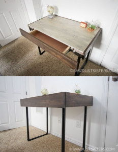 Small Computer Desk Free Plans