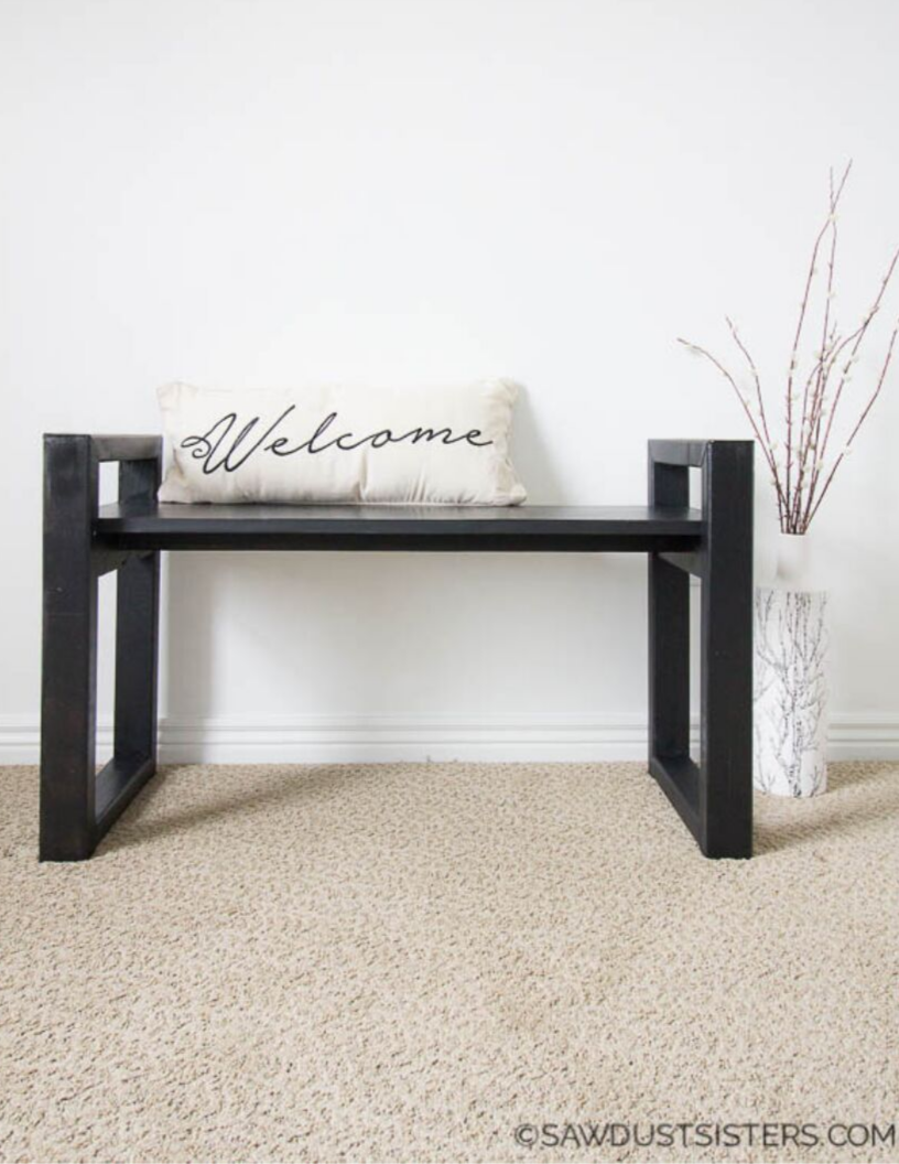 Small wooden bench free plans