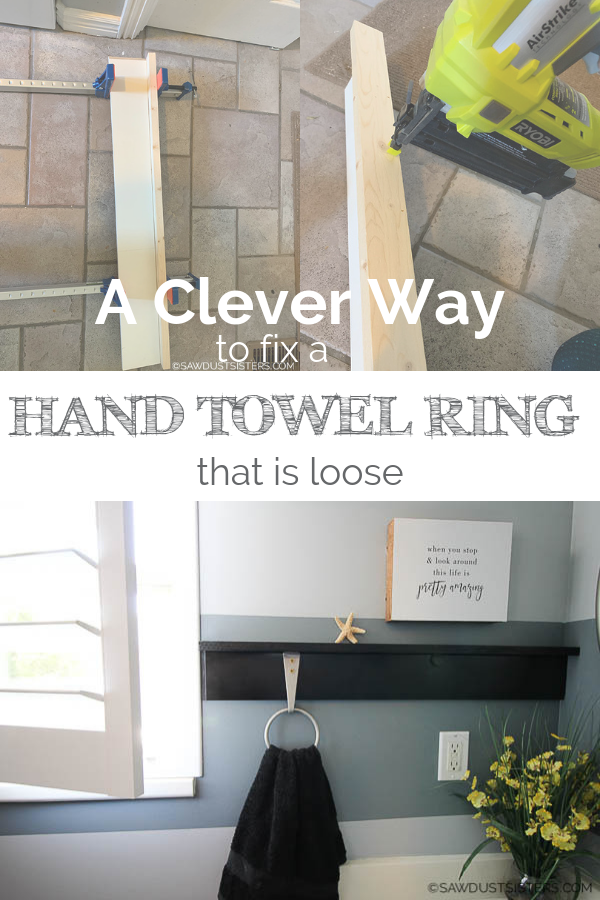 If you're frustrated and want to know how to fix a towel ring holder that is loose (once and for all!), you've come to the right place. Read on for a clever and unconventional (but long-lasting) solution to the problem, and create a pretty space in the process.