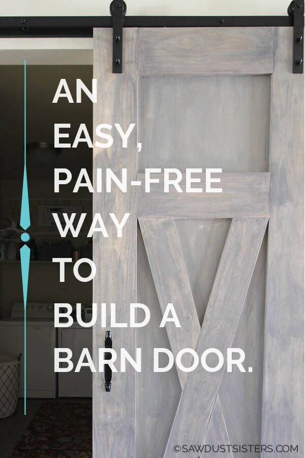 Click to access a step by step process to build your own barn door with minimal tools. CLICK NOW for the tutorial along with downloadable FREE PLANS. You can apply the simple process to build one to fit your space.