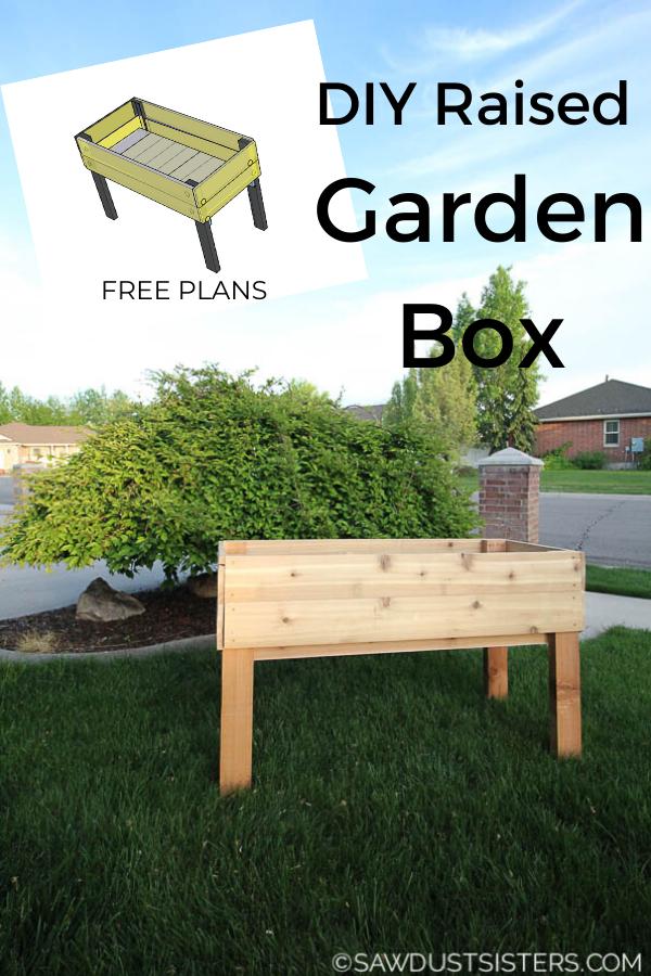 Diy Planter Box Plans Sawdust Sisters