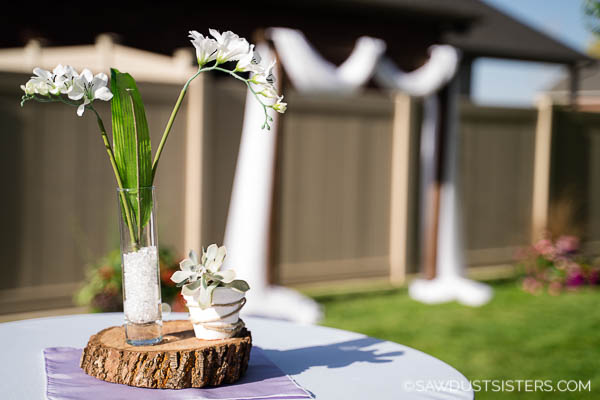 A backyard wedding reception doesn't have to be expensive to be elegant. With a little creativity and planning, you can create a backyard venue that is the talk of the neighborhood. Scroll for a few classy, budget-friendly, outside wedding ideas that are easy to implement in your own outdoor space.