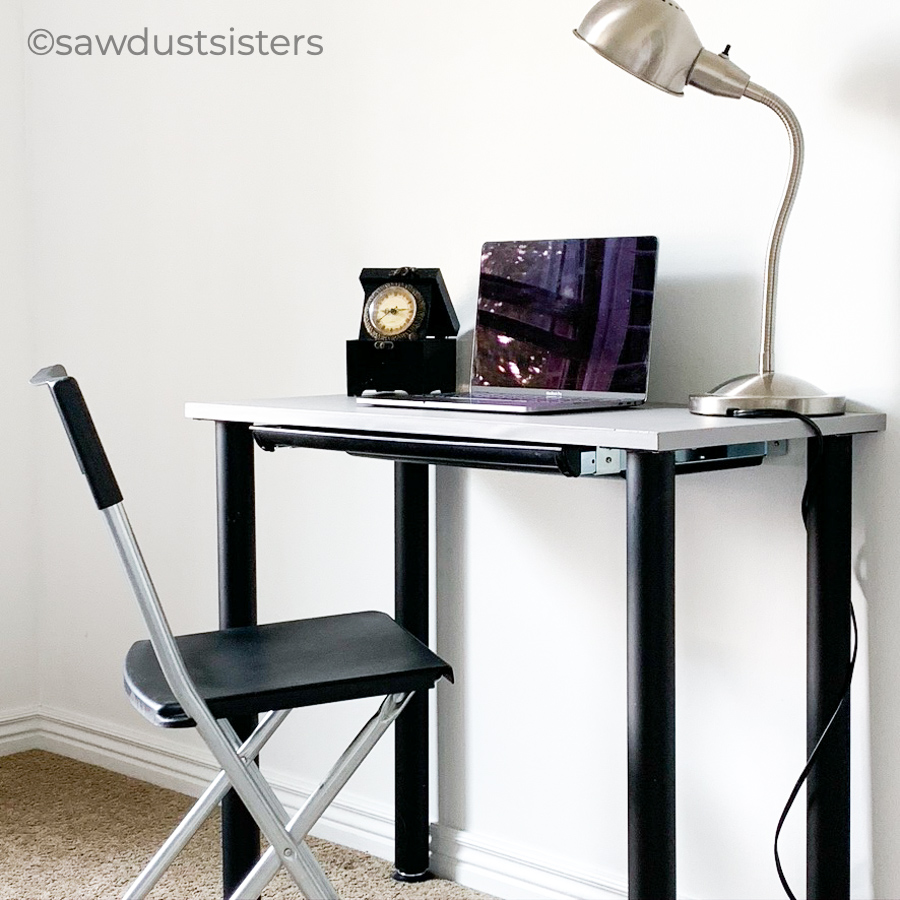 This DIY Modern Desk is a fast and simple piece that adds function and style to any workspace. The minimalist look is versatile and the compact size makes it easy to fit in any room. You will be amazed at how easy it is to build!