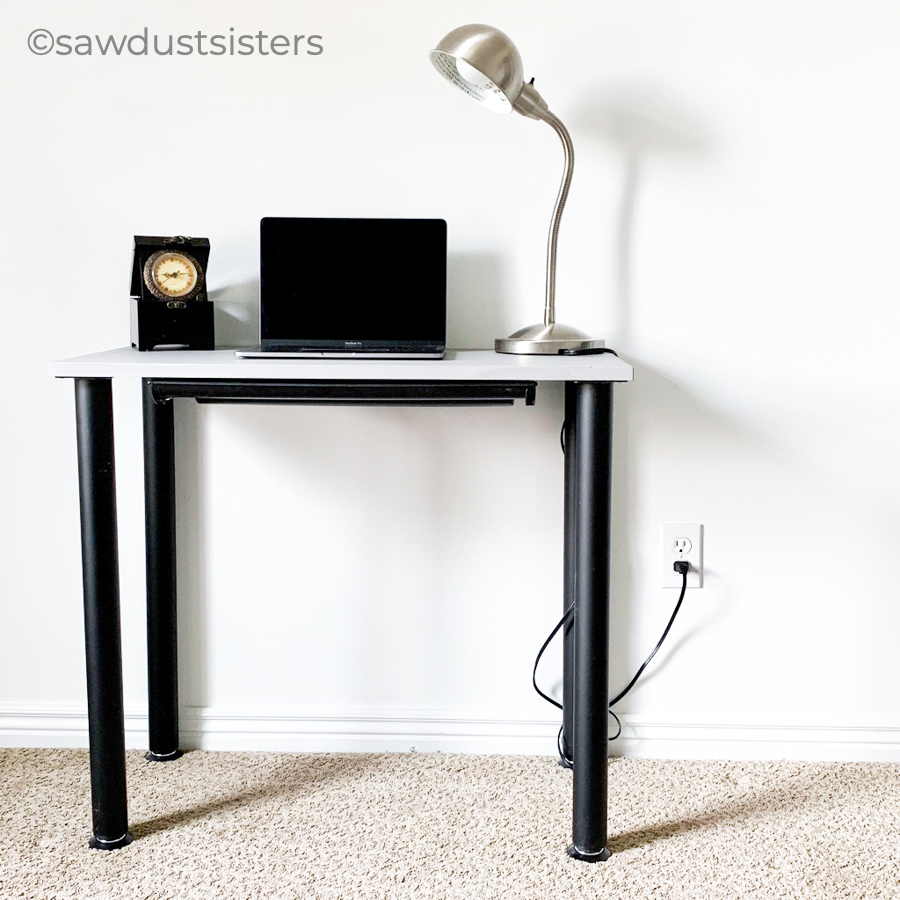 This DIY Modern Desk is a fast and simple project that will add function and style to any workspace. The minimalist style and size of this small DIY desk make it versatile and a perfect addition to any room in your home. You will be amazed at how easy it is to put together!